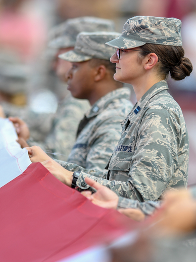 Troy University Student at Military Appreciation Game