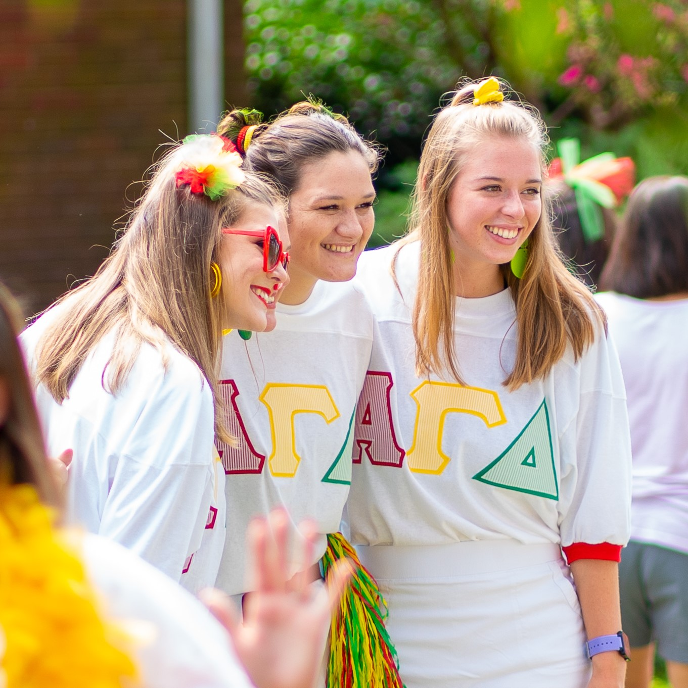 Alpha Gamma Delta sisters on bid day 2019