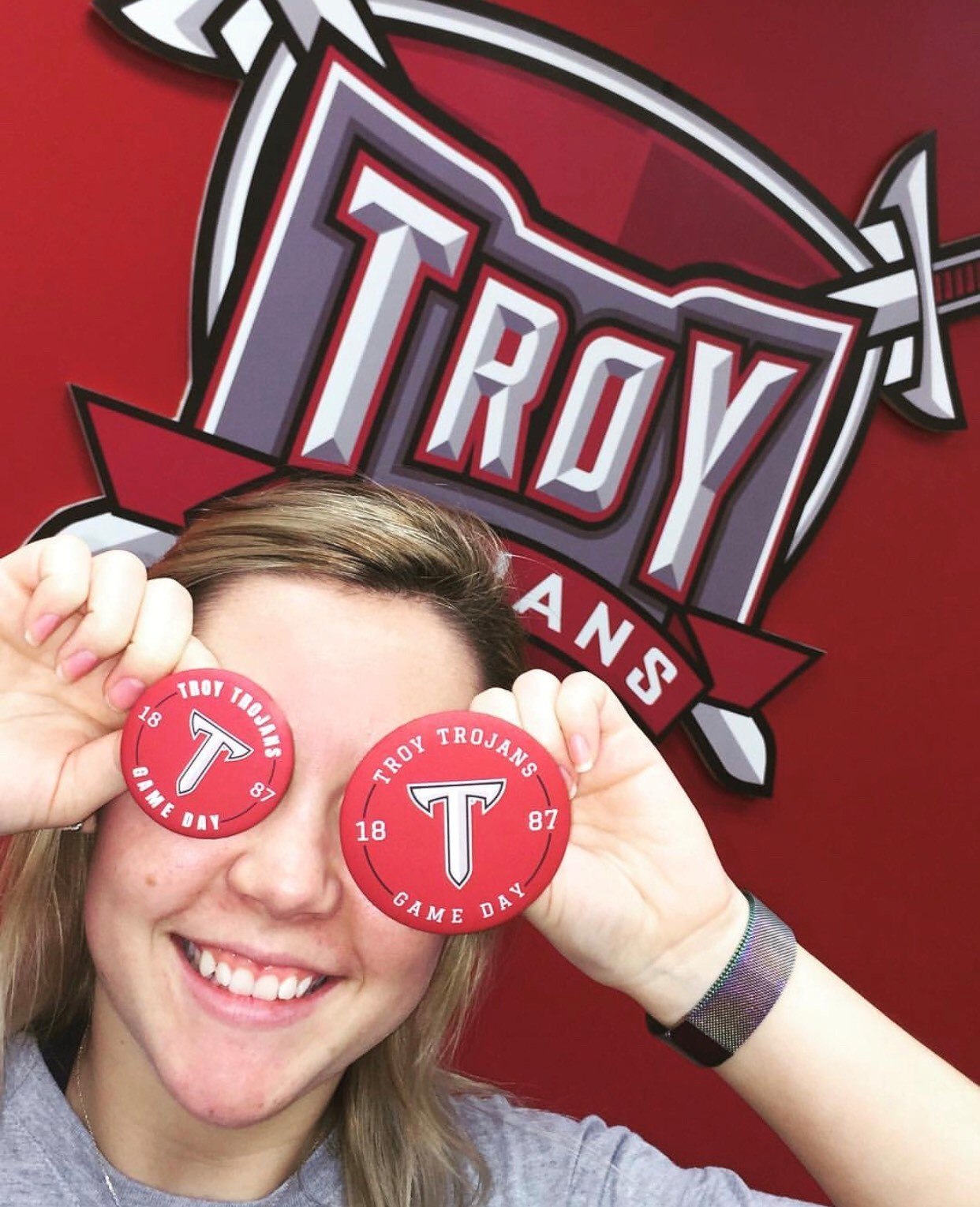 Troy University Game Day buttons