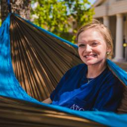Student Relaxing in Hammock
