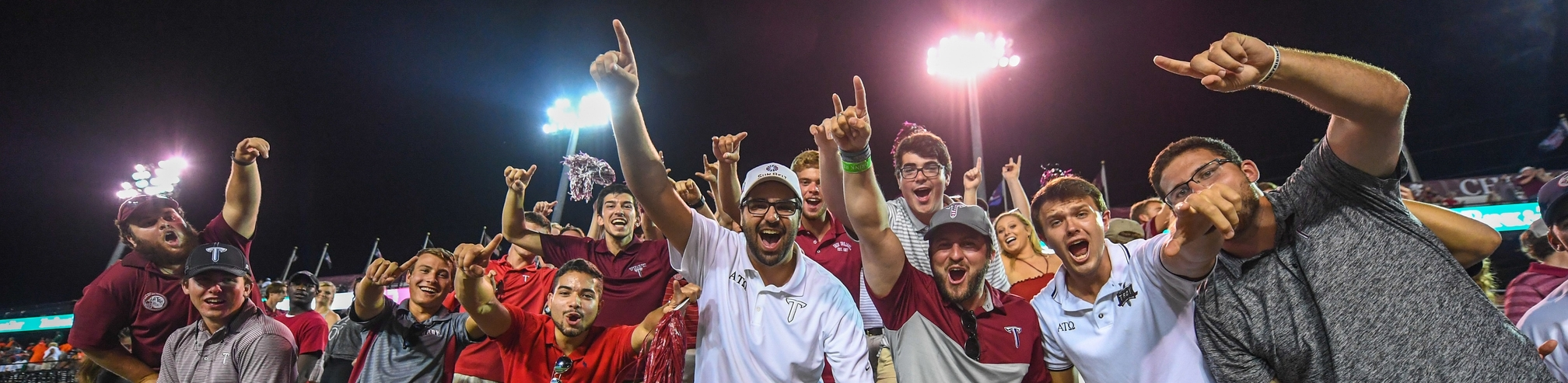 TROY fraternity brothers football fans