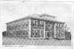 1934, Postcard of Luverne, Alabama, High School.