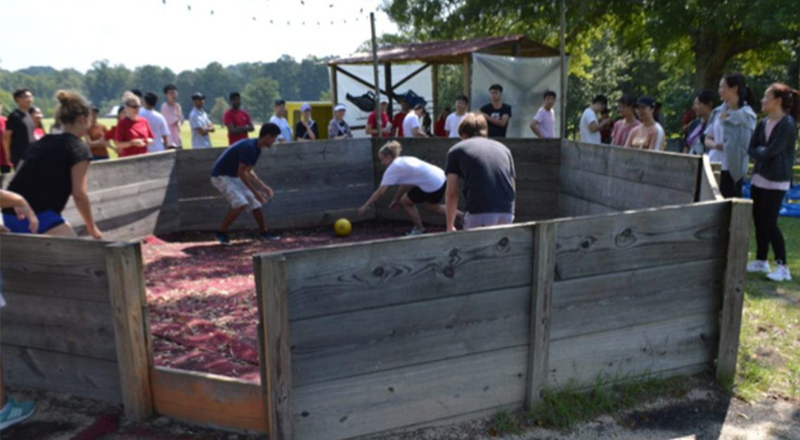 GaGa Ball at Camp Butter and Egg during Orientation.