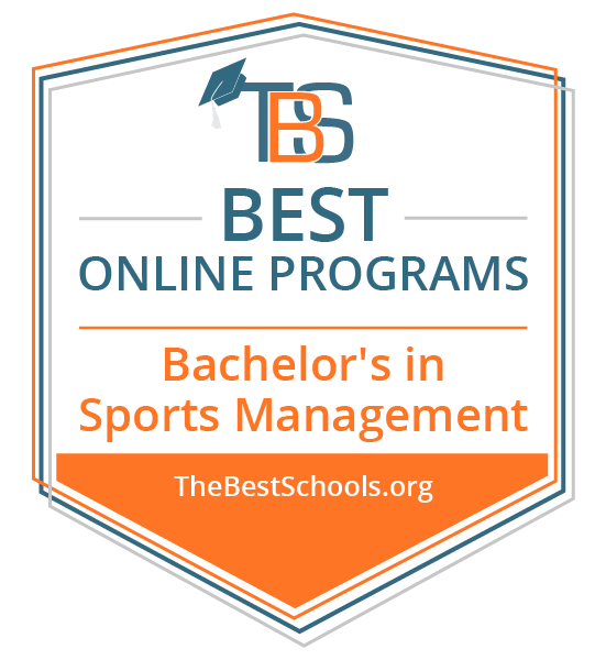 Best Online Programs - Bachelor's in Sport Management badge from TheBestSchools.org