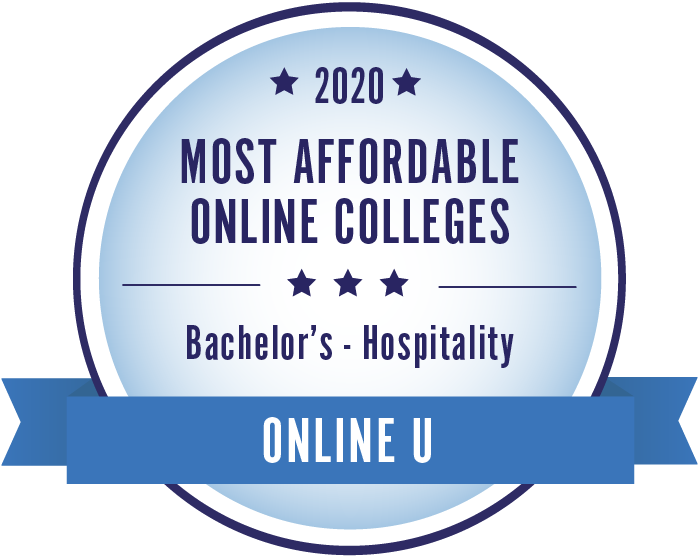Most Affordable Degrees Bachelors in Hospitality Management badge