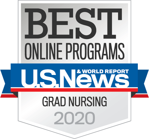 U.S. News and World Report Best Online Grad Nursing Programs 2020 badge