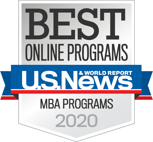U.S. News and World Report - Best Online Grad Business Programs for Veterans 2020 badge