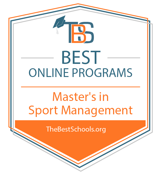 Best Online Programs - Master's in Sport Management badge from TheBestSchools.org