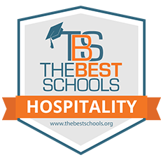 The Best Schools - Hospitality badge from TheBestSchools.org