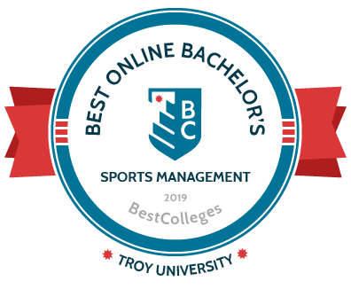 Best Online Bachelor's - Sports Management 2019 badge from BestColleges