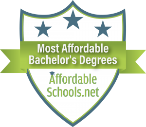 College Choice Ranking. Most Affordable Online Colleges and Universities Badge.
