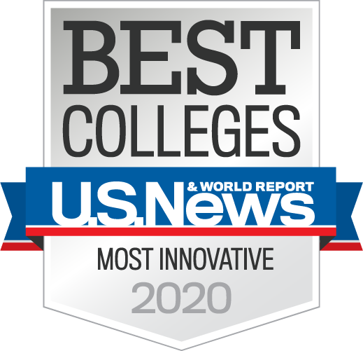 U.S. News and World Report Most Innovative College 2020 Badge